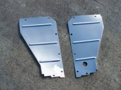1955-57 Chevy - Radiator Support - GM - 1957 Chrome Radiator Support Baffles Pair