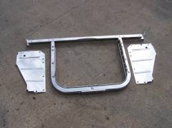 1955 Chevy 6-Cylinder Chrome Radiator Core Support Kit - Image 2