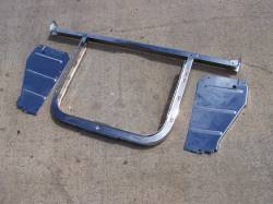 1956 Chevy 6-Cylinder Chrome Radiator Core Support Kit - Image 2
