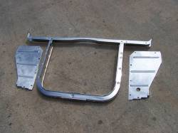 1957 Chevy 6-Cylinder Chrome Radiator Core Support Kit - Image 2