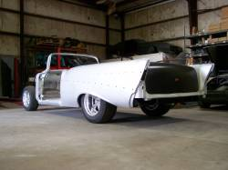 1955-57 Chevy 2-Door Sedan Mini-Tubbed Right Inner Quarter Panel Complete - Image 2