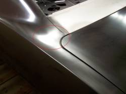 1967-68 Camaro Coupe Left Quarter Panel Stiffener At Trunk Hinge - Image 2