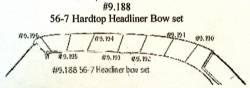 1956-57 Chevy 2-Door Hardtop Headliner Wire Bows Set Of 7 - Image 2