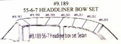 1955-57 Chevy 2&4-Door Sedan Headliner Wire Bows Set Of 7 - Image 2