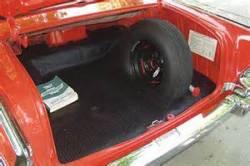 1955-57 Chevy Convertible Rubber Trunk Mat - Image 2