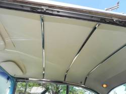 1955 Chevy Bel Air Hardtop Polished Stainless Steel Headliner Bow Set - Image 2