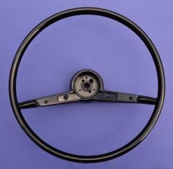 """1957 Chevy 210 & Bel Air 16"""" Steering Wheel Black - Image 1"""