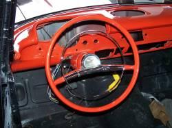 """1957 Chevy 210 & Bel Air 16"""" Steering Wheel Black - Image 3"""