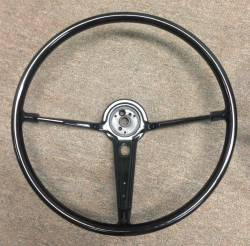 "1955-57 Chevy - Interior - 1955-56 Chevy Bel Air 16"" Steering Wheel Black"