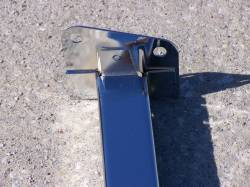 1955 Chevy Chrome Radiator Core Support Top Bar - Image 4