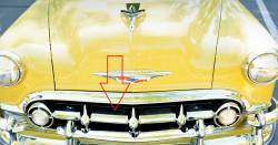 1953 Chevy Chrome Top Center Grille Molding - Image 2