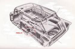 1956-57 Chevy Station Wagon & Nomad Left Forward Outer Wheelhouse Panel - Image 2