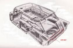 1955-57 Chevy Sedan Delivery Rear Cargo Floor Extension Under Tailpan - Image 2