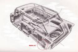 "1956-57 Chevy Station Wagon & Nomad Left Rear Outer Wheelhouse Panel ""Mud Flap"" - Image 2"