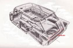 1955-57 Chevy Station Wagon & Nomad Rear Cargo Floor Extension Under Tailpan - Image 2