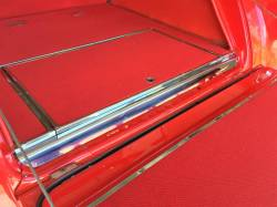1955-57 Chevy Nomad/Station Wagon/Sedan Delivery Rear Body Polished Stainless Steel Sill Plate - Image 2