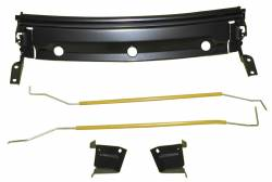 Camaro & Firebird    - Backglass/Rear Deck Panel - 1967-69 Chevrolet Camaro Convertible Lower Deck Filler Torsion Bar Support With Hinges