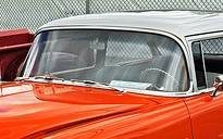 1955-56 Chevy 2&4-Door Sedan/Station Wagon Restored Windshield Stainless Set - 8-Pieces - Image 2