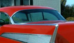 1955-57 Chevy 2-Door Hardtop Restored Back Glass Stainless Set - 6 Pieces - Image 2