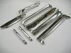 1955-57 Chevy - Exterior Chrome - 1955-57 Chevy 2-Door Hardtop 8-Piece Vent Window Area Restored Stainless Steel Set