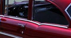 1955-57 Chevy 210 2-Door Sedan Restored Beltline Stainless Set - 4-Pieces - Image 2