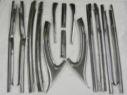 1955-57 Chevy - Stainless Steel Trim - 1955-57 Chevy Bel Air 4-Door Sedan Restored Beltline Stainless Set - 14-Pieces