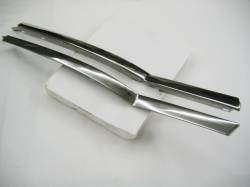 1955-57 Chevy - Exterior Chrome - 1955-57 Chevy Bel Air 2-Door Hardtop Restored Quarter Window Beltline Stainless Pair