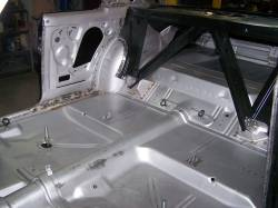 1966-67 Chevy II Body Shell Column Shift Bench Seat With Quarter Panels & Top Skin - Image 9