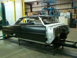 1966-67 Chevy II Body Shell Column Shift Bench Seat With Quarter Panels & Top Skin - Image 5