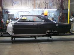 1966-67 Chevy II Body Shell Column Shift Bench Seat With Quarter Panels & Top Skin - Image 4