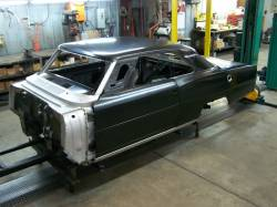 1966-67 Chevy II Body Shell Column Shift Bench Seat With Quarter Panels & Top Skin - Image 3