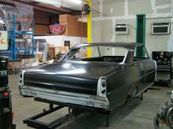 1966-67 Chevy II Body Shell Mini-Tubbed Column Shift Bench Seat With Quarter Panels & Top Skin - Image 6
