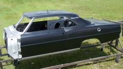 1966-67 Chevy II Body Shell Column Shift Bench Seat With Quarter Panels & Top Skin - Image 12