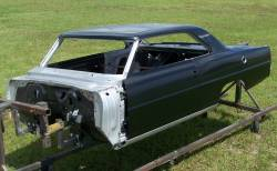 1966-67 Chevy II Body Shell Standard Shift Bucket Seats With Quarter Panels & Top Skin - Image 11
