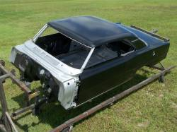 1966-67 Chevy II Body Shell Standard Shift Bucket Seats With Quarter Panels & Top Skin - Image 14