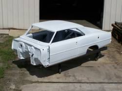Bodies - Chevy II/Nova - 1966-67 Chevy II Body Shell Automatic Shift Bucket Seats With Quarter Panels & Top Skin
