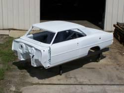 Bodies - Chevy II/Nova - 1966-67 Chevy II Body Shell Automatic Shift Bucket Seats With Quarter Panels & Top Skin