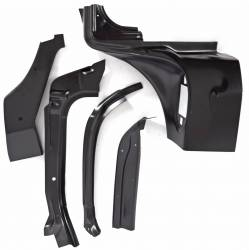 1955-57 Chevy - Windshield & Cowl - 1955-56 Chevy 2&4-Door Hardtop & Nomad Right Windshield Pillar/Upper Hinge Area Repair Kit