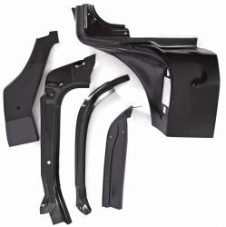 1955-57 Chevy - Windshield & Cowl - 1957 Chevy 2&4-Door Sedan & Station Wagon Right Windshield Pillar/Upper Hinge Area Repair Kit