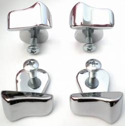 1955-57 Chevy - Exterior Chrome - 1956 Chevy Bel Air 4-Door Sedan & Station Wagon Center Post Divider Chrome Trim Set