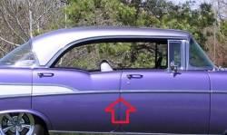 1957 Chevy 210 & Bel Air 4-Door Hardtop Center Post Divider Chrome Trim - Image 2