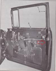 1955-57 Chevy 2-Door Sedan & Station Wagon Door Vertical Steel Rear Of Door Run Channel - Image 2