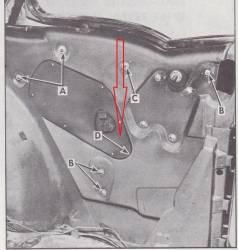 1955-57 Chevy 2-Door Hardtop Right  Long Quarter Window Track - Image 2