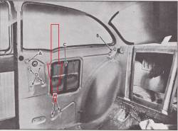 1955-57 Chevy 2-Door Sedan Left  Long Quarter Window Track - Image 2