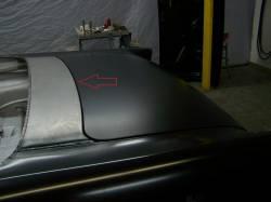 1955-57 Chevy Convertible Rear Deck Filler Panel - Image 2