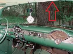 1955-57 Chevy 2&4-Door Hardtop & Nomad Used Right Upper Inner Windshield Garnish Molding - Image 2