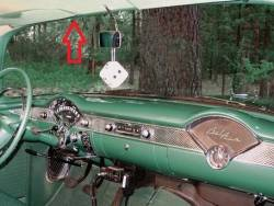 1955-57 Chevy 2&4-Door Sedan & Station Wagon Used Leftt Upper Inner Windshield Garnish Molding - Image 2