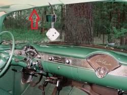 1955-57 Chevy 2&4-Door Sedan & Station Wagon Used Leftt Upper Inner Windshield Garnish Molding - Image 2