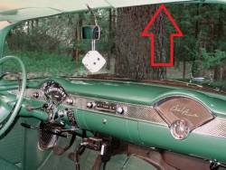 1955-57 Chevy 2&4-Door Sedan & Station Wagon Used Right Upper Inner Windshield Garnish Molding - Image 2