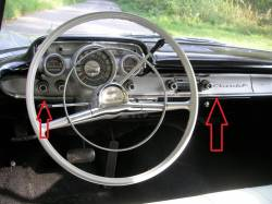 1957 Chevy 210 Restored Stainless Steel Dash Trim Set With Clips - Image 2